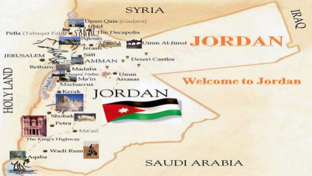 Jordan's Touristic Attractions • Amman • Petra • Jerash • Dead Sea • Madaba • Um Qais • Aqaba • Wadi Rum • Wadi il Moujib