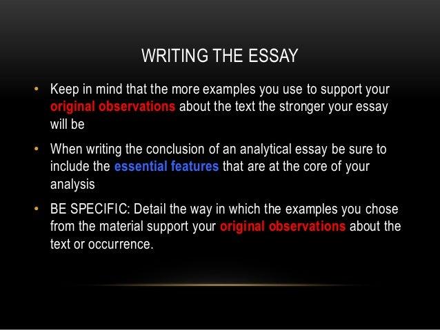 analytical essays