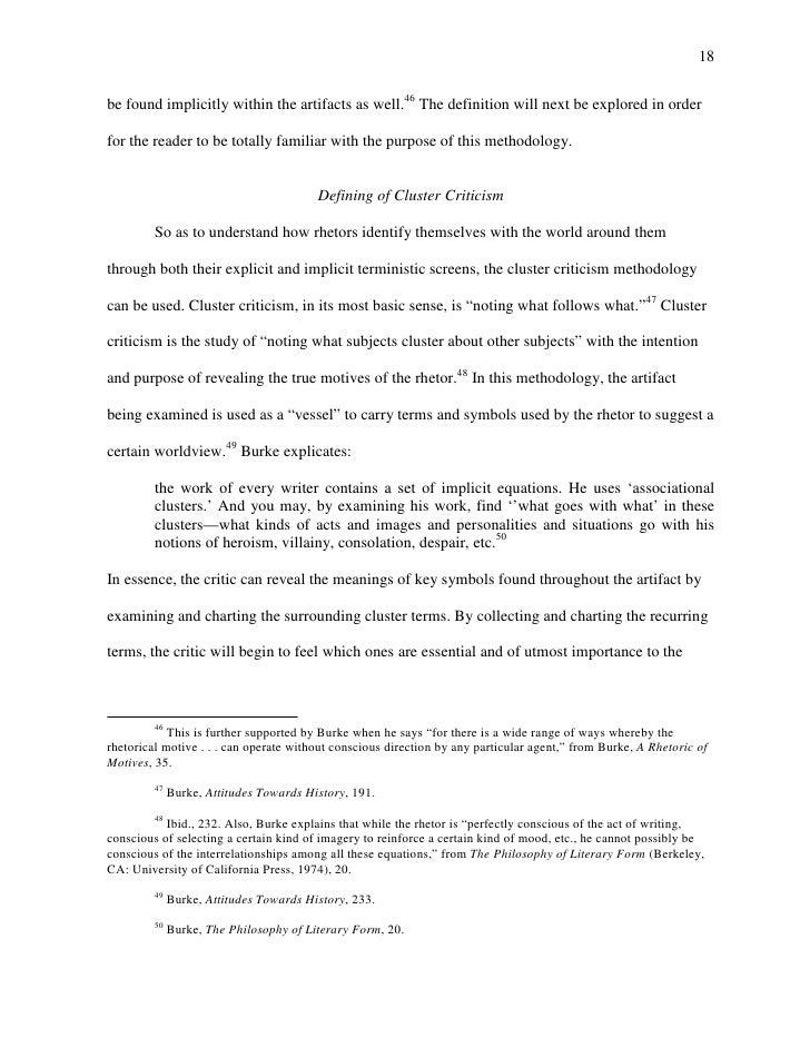 Cluster criticism essay
