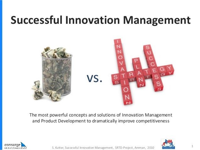 vs. Successful Innovation Management The most powerful concepts and solutions of Innovation Management and Product Develop...
