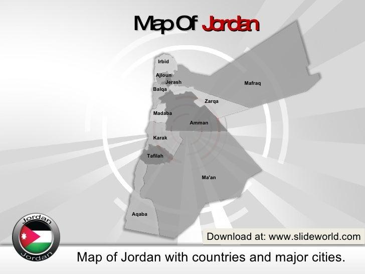 Jordan Map Powerpoint Template