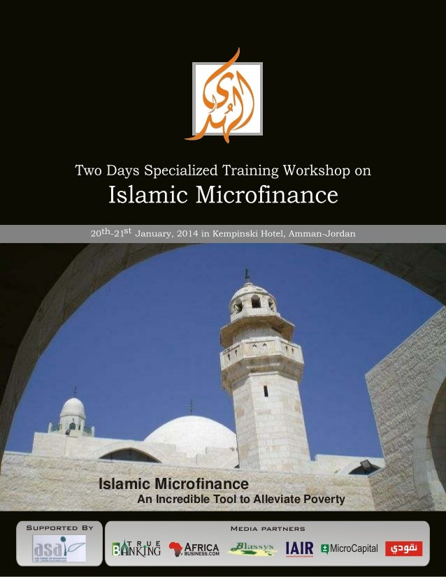 Islamic Microfinance An Incredible Tool to Alleviate Poverty