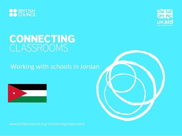 Working with schools in Jordan