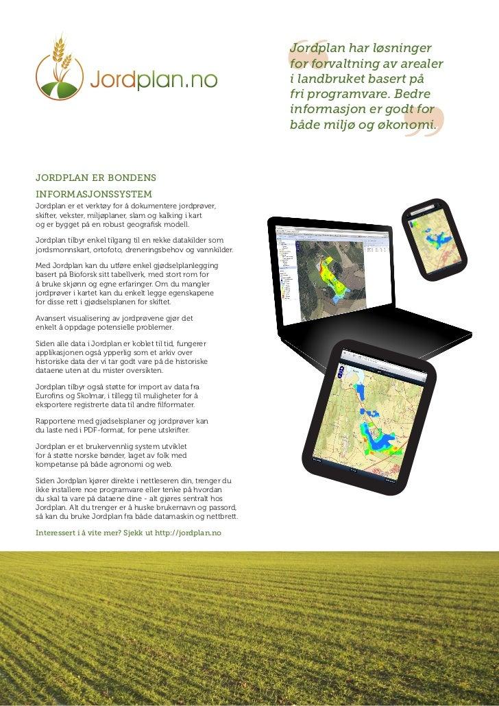 ❝                                                              Jordplan har løsninger                                     ...