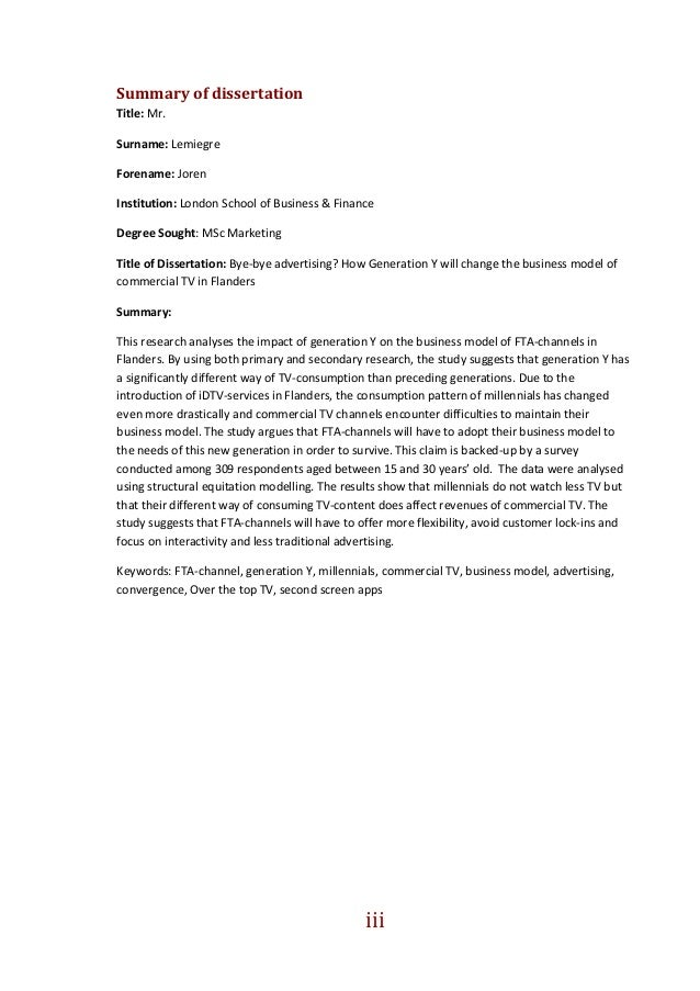 business model generation thesis Strengths and limitations of the business model canvas master  thesis business administration author: bastian coes student.
