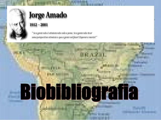 Jorge Amado nasceu a 10 de Agosto de 1912, no município de Itabuna, sul do Estado da Bahia. Filho do fazendeiro de cacau J...