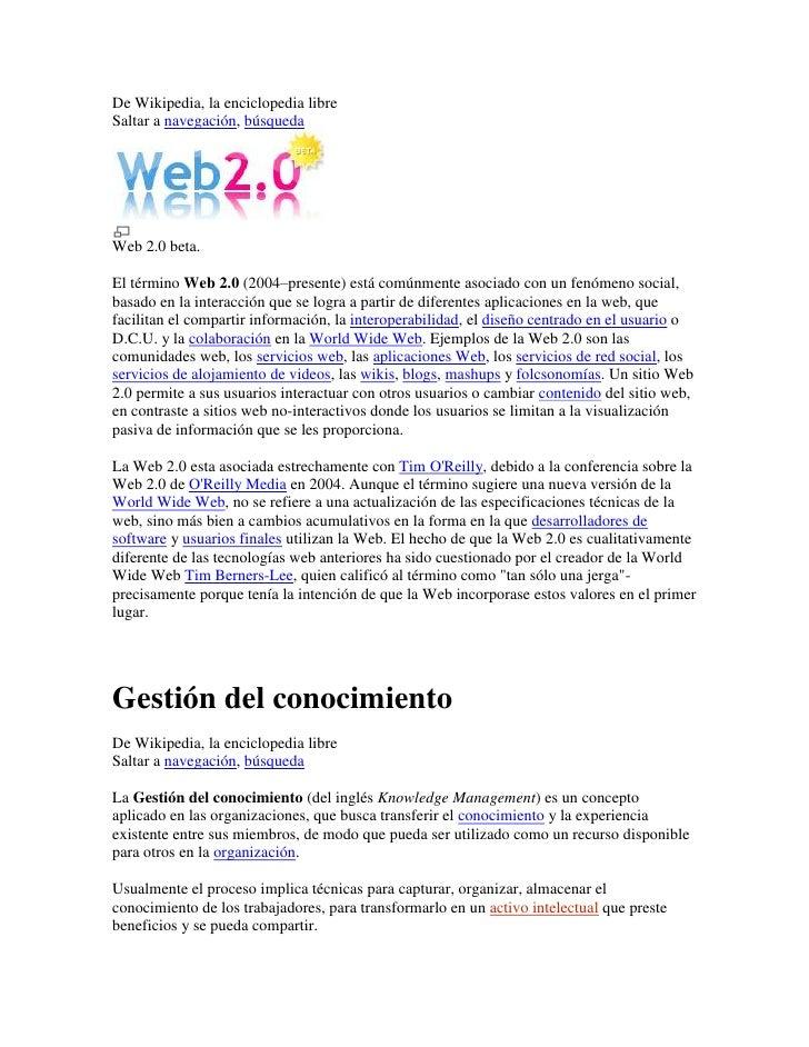 De Wikipedia, la enciclopedia libre<br />Saltar a navegación, búsqueda <br />Web 2.0 beta.<br />El término Web 2.0 (2004–p...