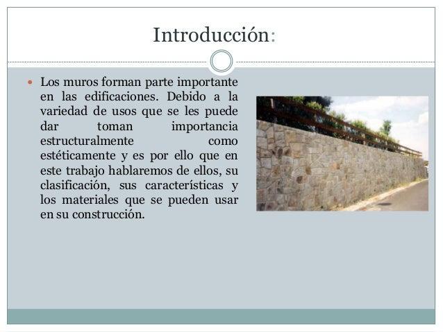 Procesos de construcci n muros for Muros verdes definicion