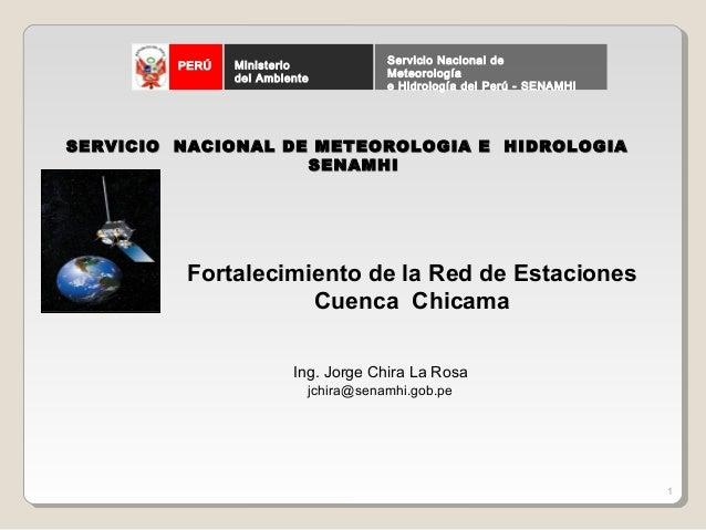 Ministerio            Servicio Nacional de         PERÚ                del Ambiente          Meteorología                 ...
