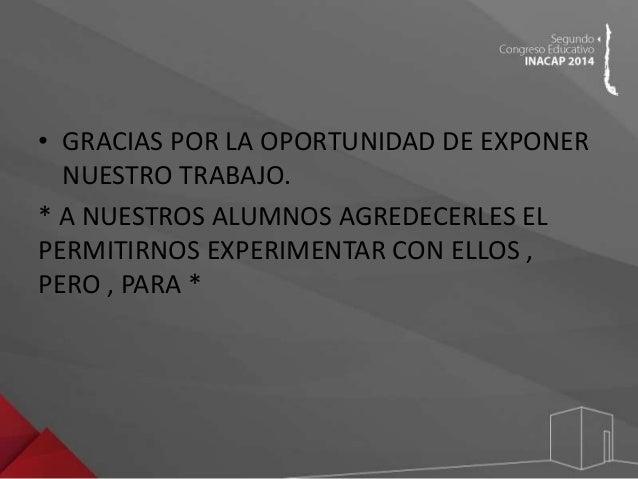 Congreso Educativo INACAP 2014 - Jorge Contreras, Mario Zapata