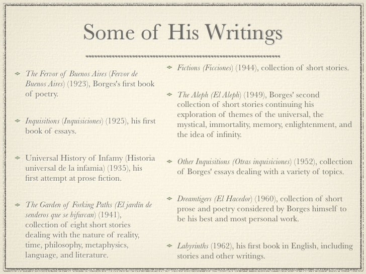 jorge luis borges essays and short stories