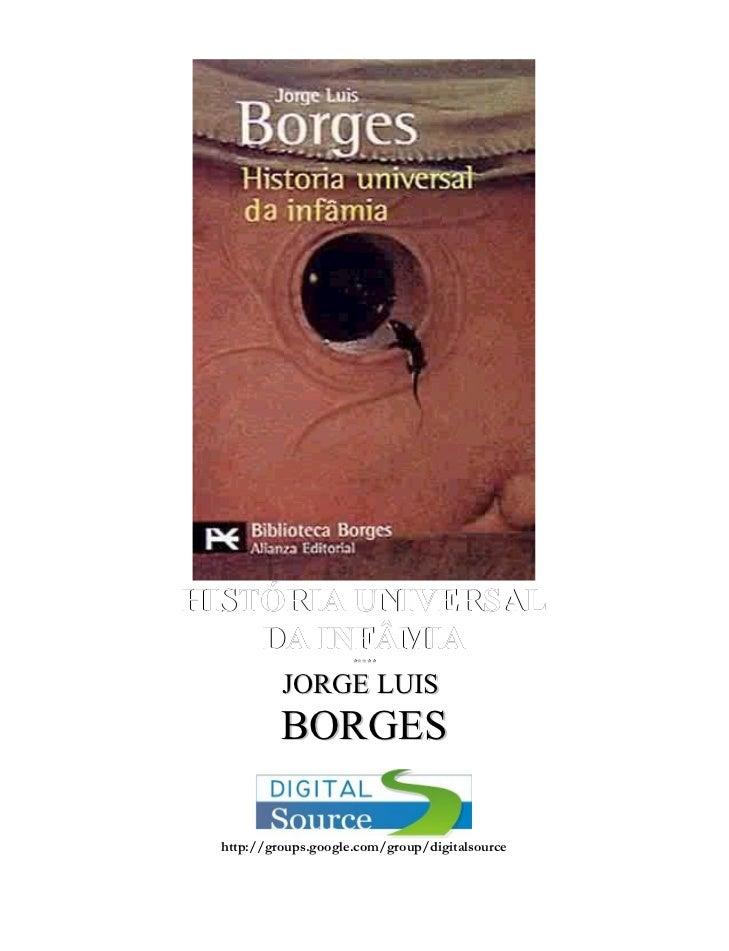 Jorge Luis Borges -   história universal da infâmia-rev