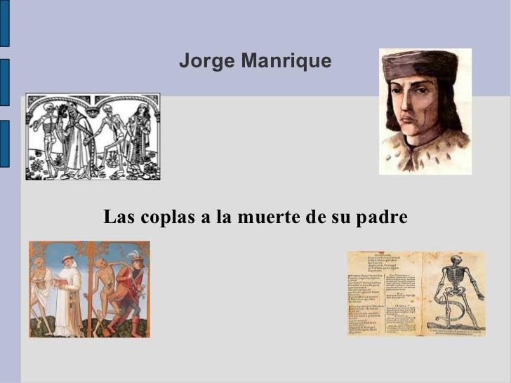 Jorge Manrique Las coplas a la muerte de su padre