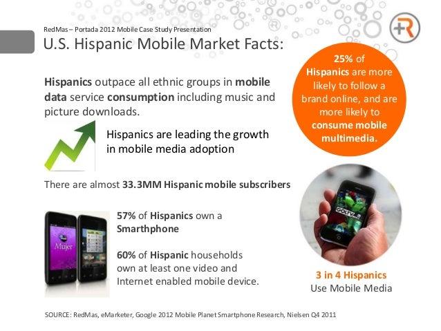 RedMas – Portada 2012 Mobile Case Study PresentationU.S. Hispanic Mobile Market Facts:                                    ...