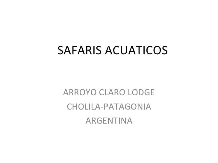 SAFARIS ACUATICOS ARROYO CLARO LODGE CHOLILA-PATAGONIA ARGENTINA