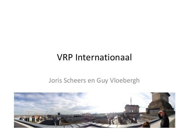 VRP InternationaalJoris Scheers en Guy Vloebergh