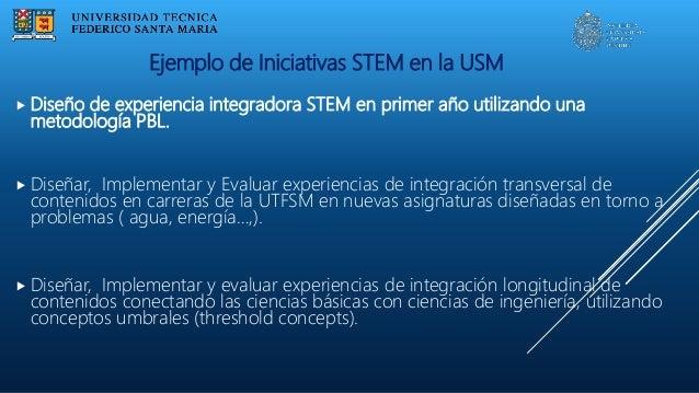  Diseño de experiencia integradora STEM en primer año utilizando una metodología PBL.  Diseñar, Implementar y Evaluar ex...