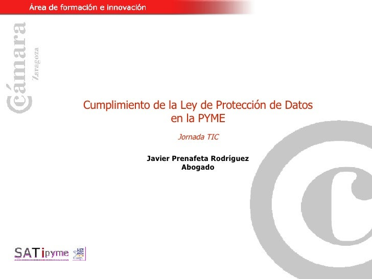 Jornada ley de proteccion de datos lopd for Oficina proteccion datos