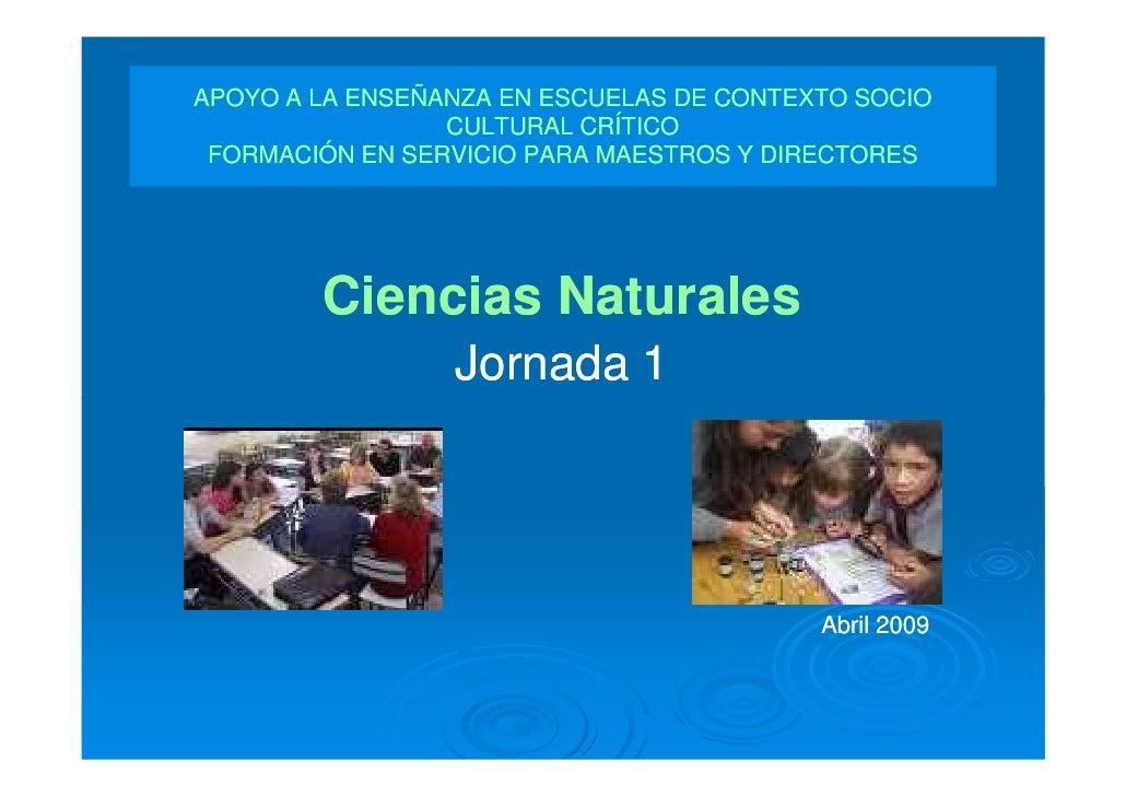 APOYO A LA ENSEÑANZA EN ESCUELAS DE CONTEXTO SOCIO                  CULTURAL CRÍTICO  FORMACIÓN EN SERVICIO PARA MAESTROS ...
