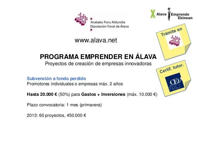 Jornada Álava Emprende 20 nov 2013