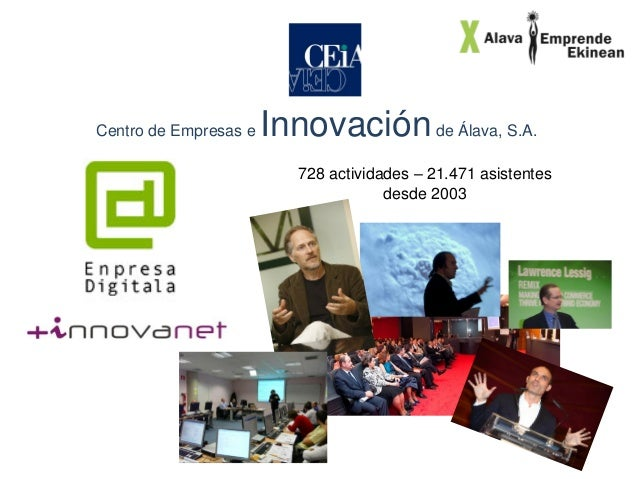 Centro de Empresas e  Innovación de Álava, S.A. 728 actividades – 21.471 asistentes desde 2003