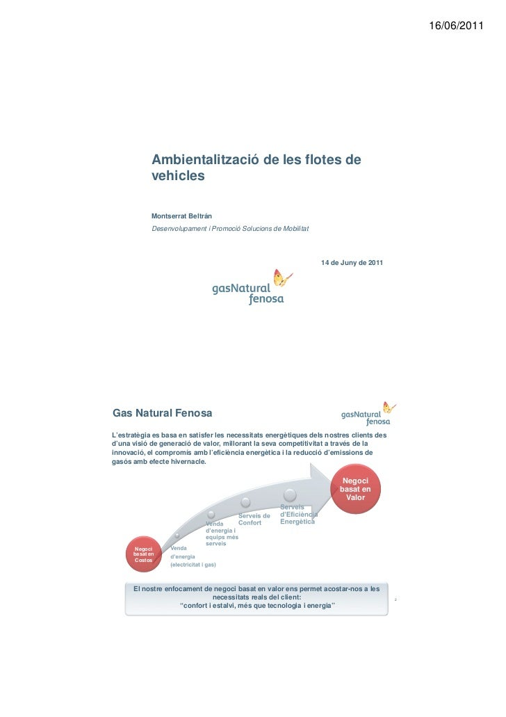 16/06/2011            Ambientalització de les flotes de            vehicles            Montserrat Beltrán            Desen...