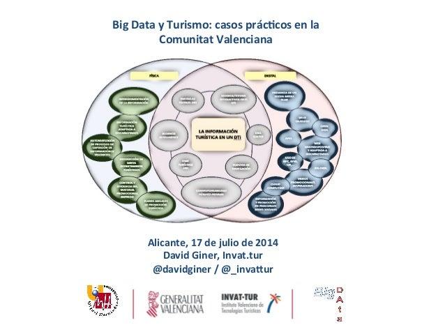 Big  Data  y  Turismo:  casos  prác3cos  en  la   Comunitat  Valenciana      Alicante,  17  de ...