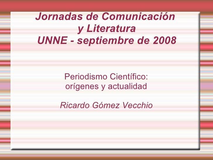 Jornada ComunicacióN   Septiembre De 2008
