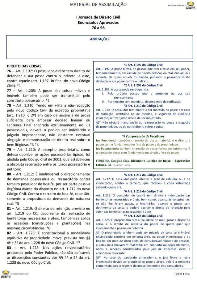 Jornada de Direito Civil 76 a 96