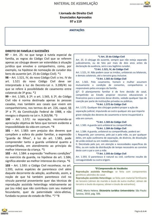 Jornada de Direito Civil 97 a 119