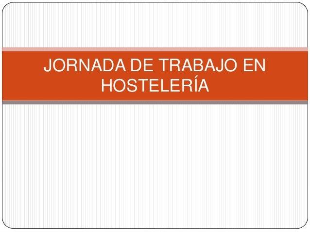 Buscar trabajo hosteleria
