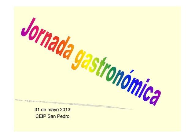 31 de mayo 2013CEIP San Pedro