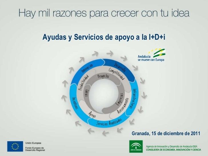 Ayudas y Servicios de apoyo a la I+D+i  Granada, 15 de diciembre de 2011