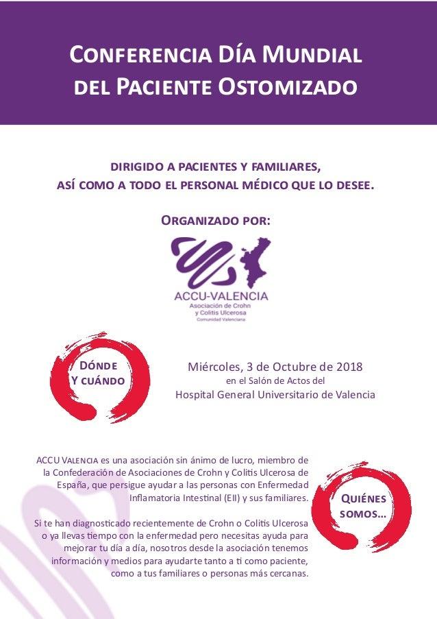 Conferencia Día Mundial del Paciente Ostomizado dirigido a pacientes y familiares, así como a todo el personal médico que ...