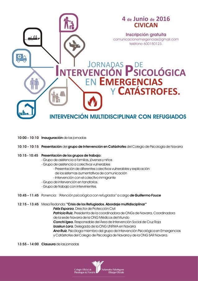 Jornadas de Intervención Psicológica en Emergencias y Catástrofes