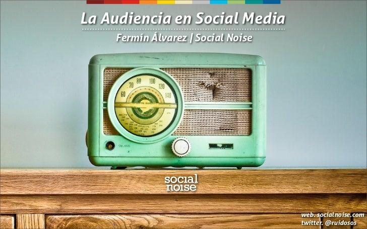 La Audiencia en Social Media    Fermín Álvarez | Social Noise                                    web. socialnoise.com     ...