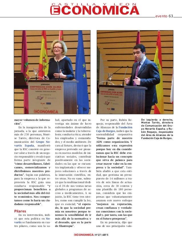jornada Empresas con alma, casos de éxito de RSC en Castilla y León, organizada el pasado mes de marzo por Castilla y León Económica Slide 2
