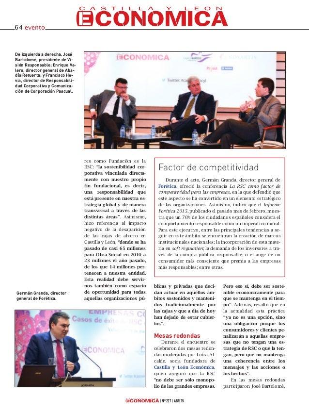 jornada Empresas con alma, casos de éxito de RSC en Castilla y León, organizada el pasado mes de marzo por Castilla y León Económica Slide 3