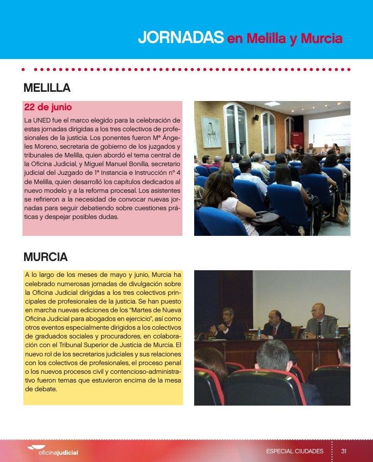 Jornadas sobre oficina judicial for Oficina judicial murcia