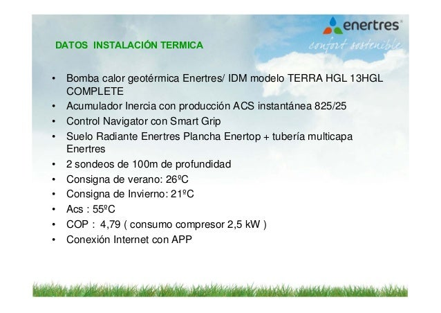 Sistema h brido con renovables geotermia fotovoltaica for Modelo demanda clausula suelo