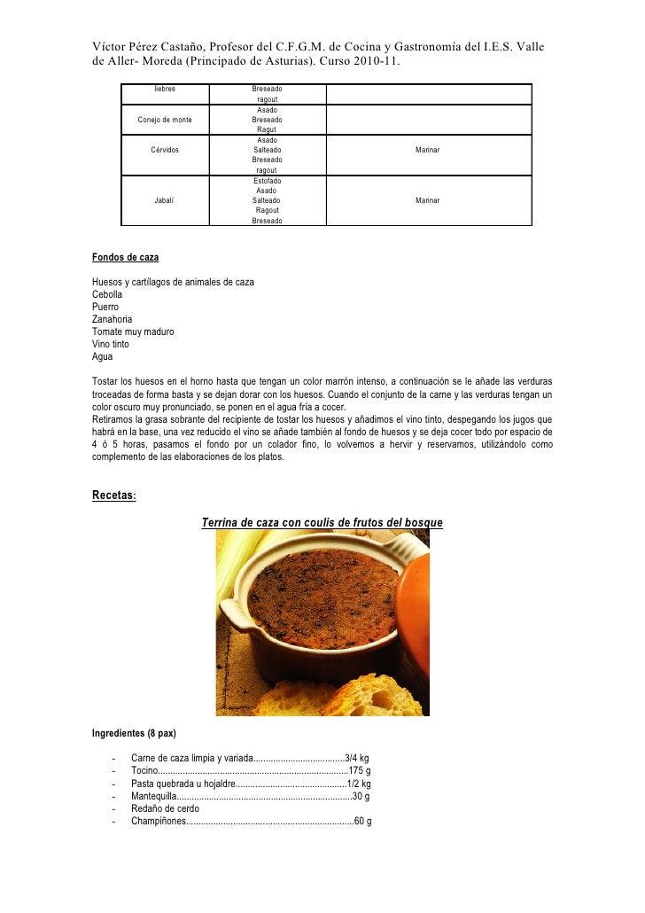 Jornadas de la cocina de la caza del i - Cursos cocina asturias ...