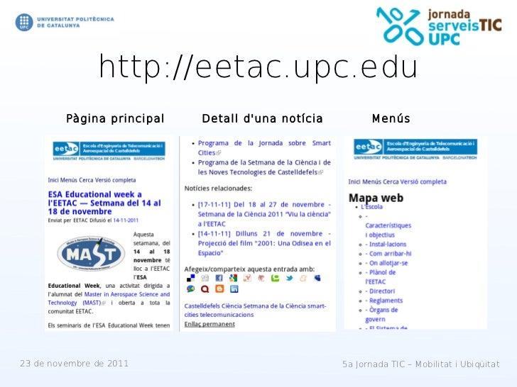 http://eetac.upc.edu         Pàgina principal   Detall duna notícia          Menús23 de novembre de 2011                  ...