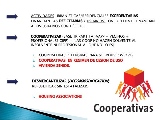 ACTIVIDADES URBANÍSTICAS/RESIDENCIALES EXCEDENTARIAS FINANCIAN LAS DEFICITARIAS Y USUARIOS CON EXCEDENTE FINANCIAN A LOS U...