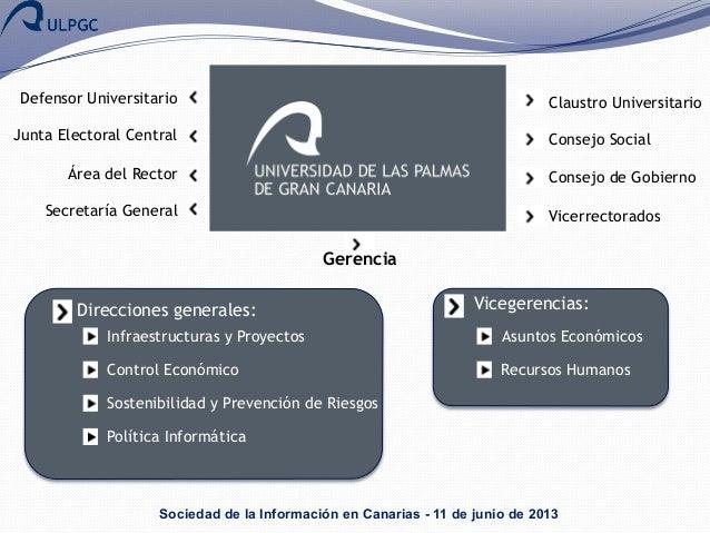Estrategias ti en la ulpgc proyectos en marcha y retos for Oficina virtual gobierno de canarias