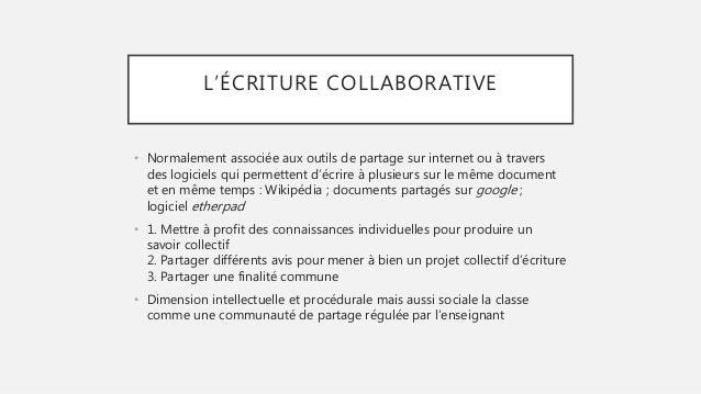 comment mettre en place un projet d u2019  u00c9criture collaborative