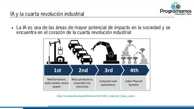 IA y la cuarta revolución industrial ● La IA es una de las áreas de mayor potencial de impacto en la sociedad y se encuent...