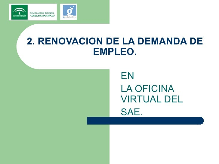 Jornadas sae y guadalinfo for Oficina virtual empleo