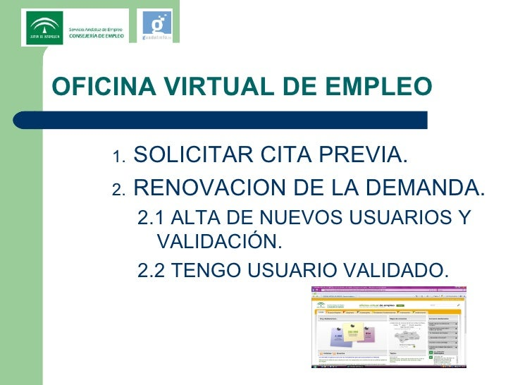 Jornadas sae y guadalinfo for Sepe oficina virtual