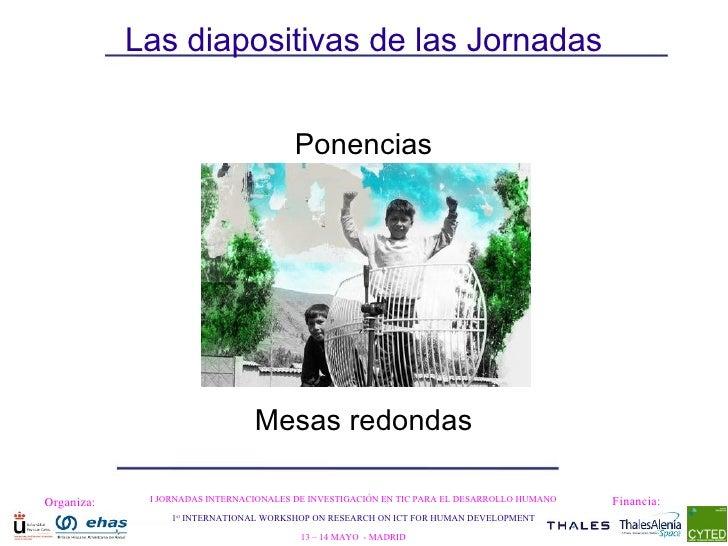 Las diapositivas de las Jornadas Ponencias Mesas redondas