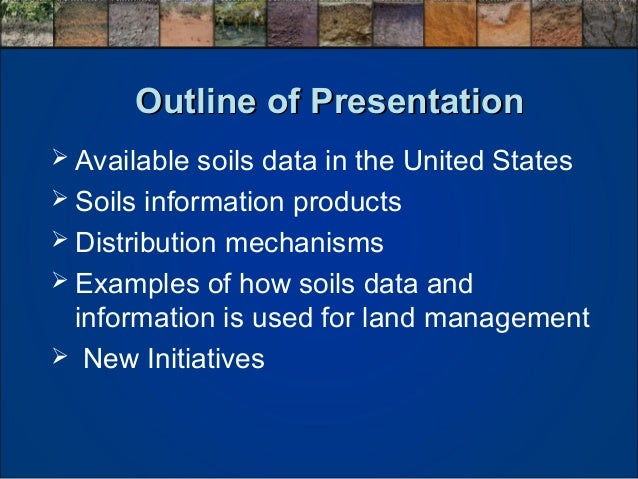 Michael robotham use of soils information for land for Soil use and management